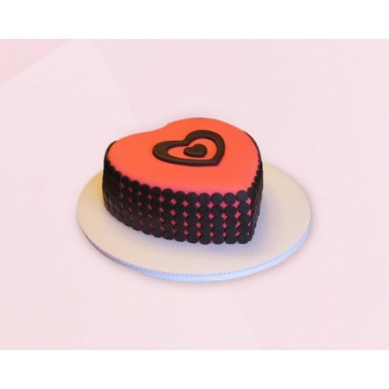 Heart cake Fondant Chocolate Cake