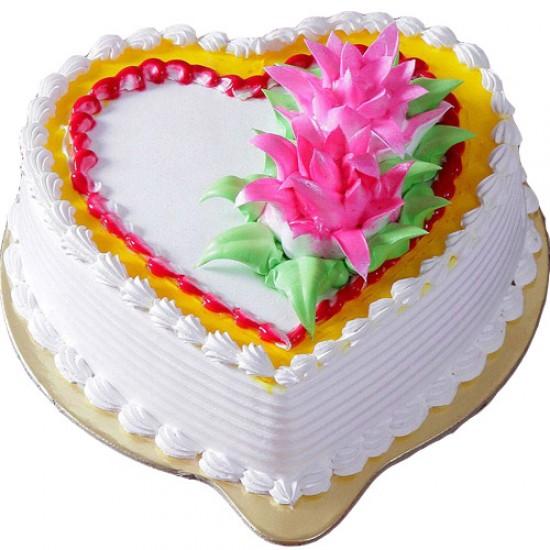Heart Pineapple Cake