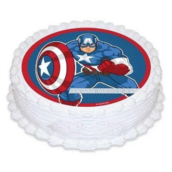 Captain america photo cake 1kg