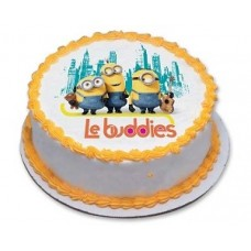 Cartoon minions  Pineapple photo cake 1kg
