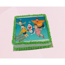 Doraemon Team Photo Cake